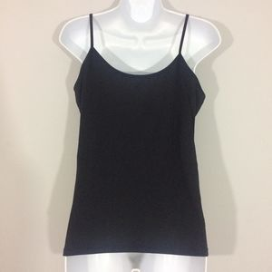 Tank Top Cami Spaghetti Straps Polka Dot Print New Small pink or blue with black